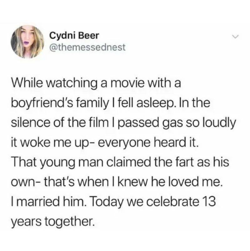 guy took the fall for a fart his girlfriend did
