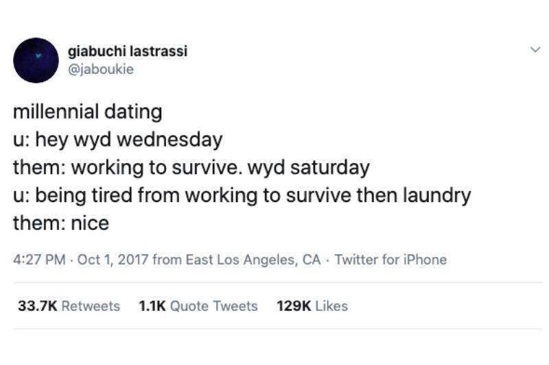 milennial dating always busy