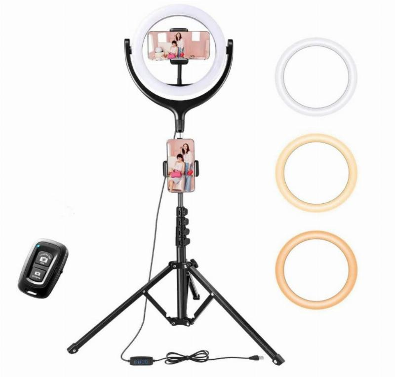 ring light tripod with three ring colors