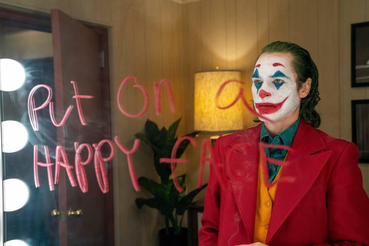 still of the joker looking in the mirror