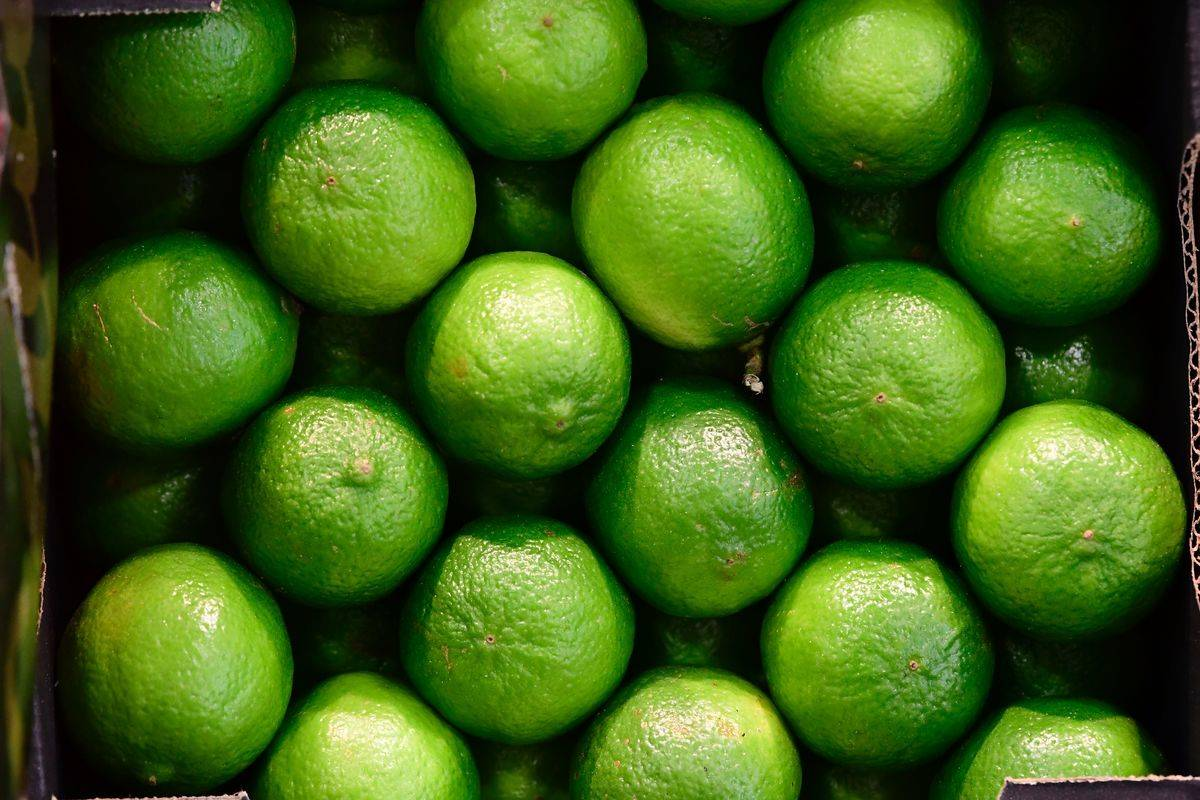 Limes in crate