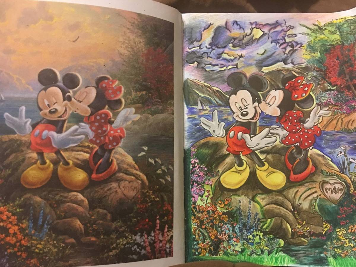 a coloring book of Disney scenes