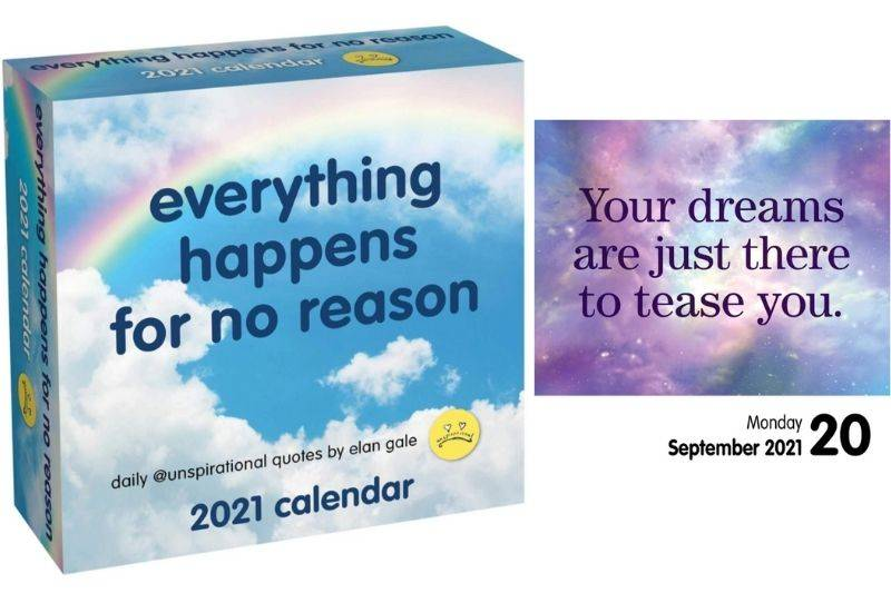 a mean calendar that is sarcastic