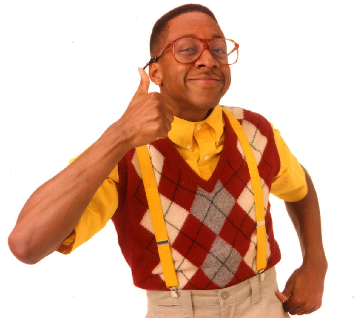 promo shot of urkel giving thumbs up
