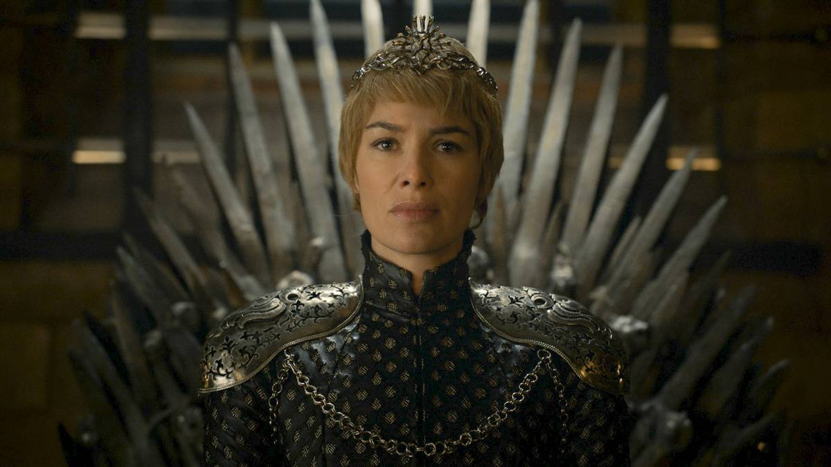 still of queen cersei from game of thrones