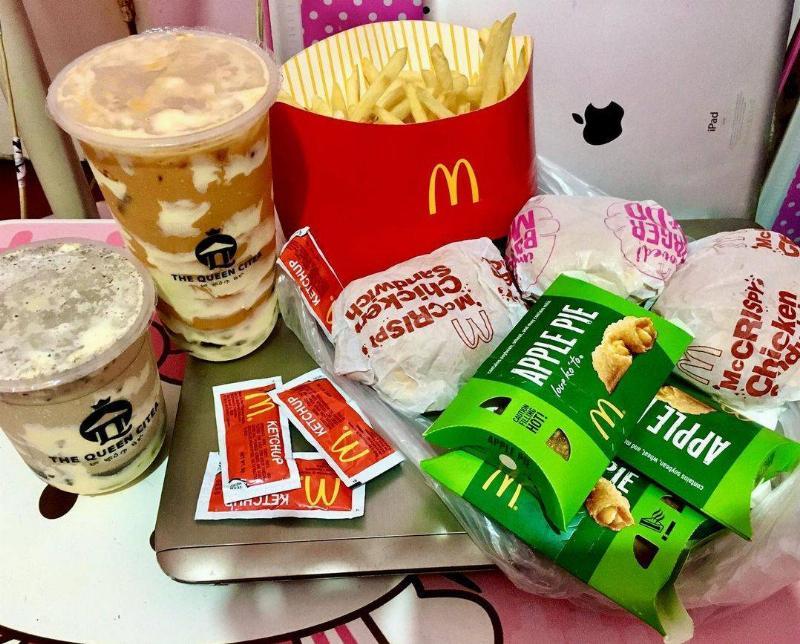 McDonald's and Bubble tea that looks extra tasty