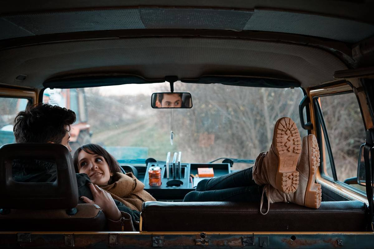 couple sitting in a truck