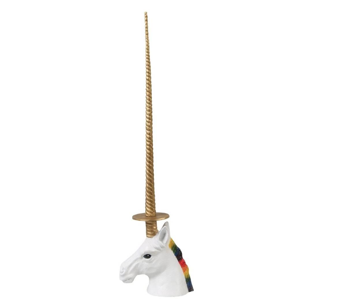 a unicorn paper towel holder