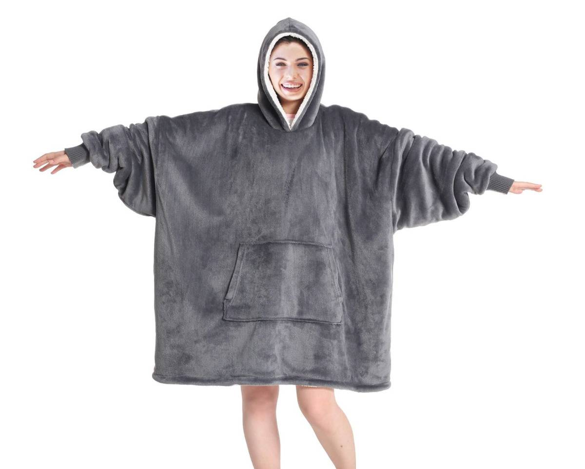 woman wearing product with arms held out