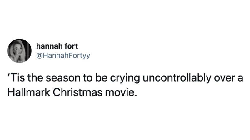 'Tis the season to be crying uncontrollably over a Hallmark Christmas movie.