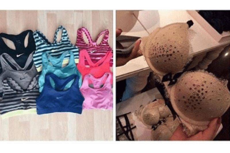 two different kinds of bras