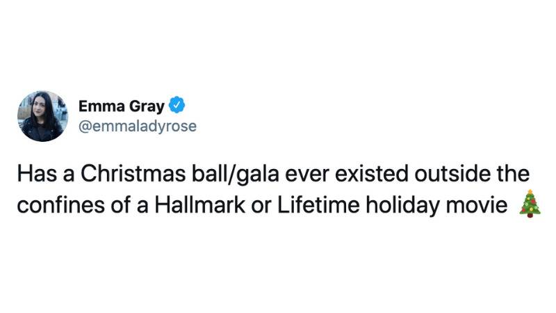Has a Christmas ball/gala ever existed outside the confines of a Hallmark or Lifetime holiday movie