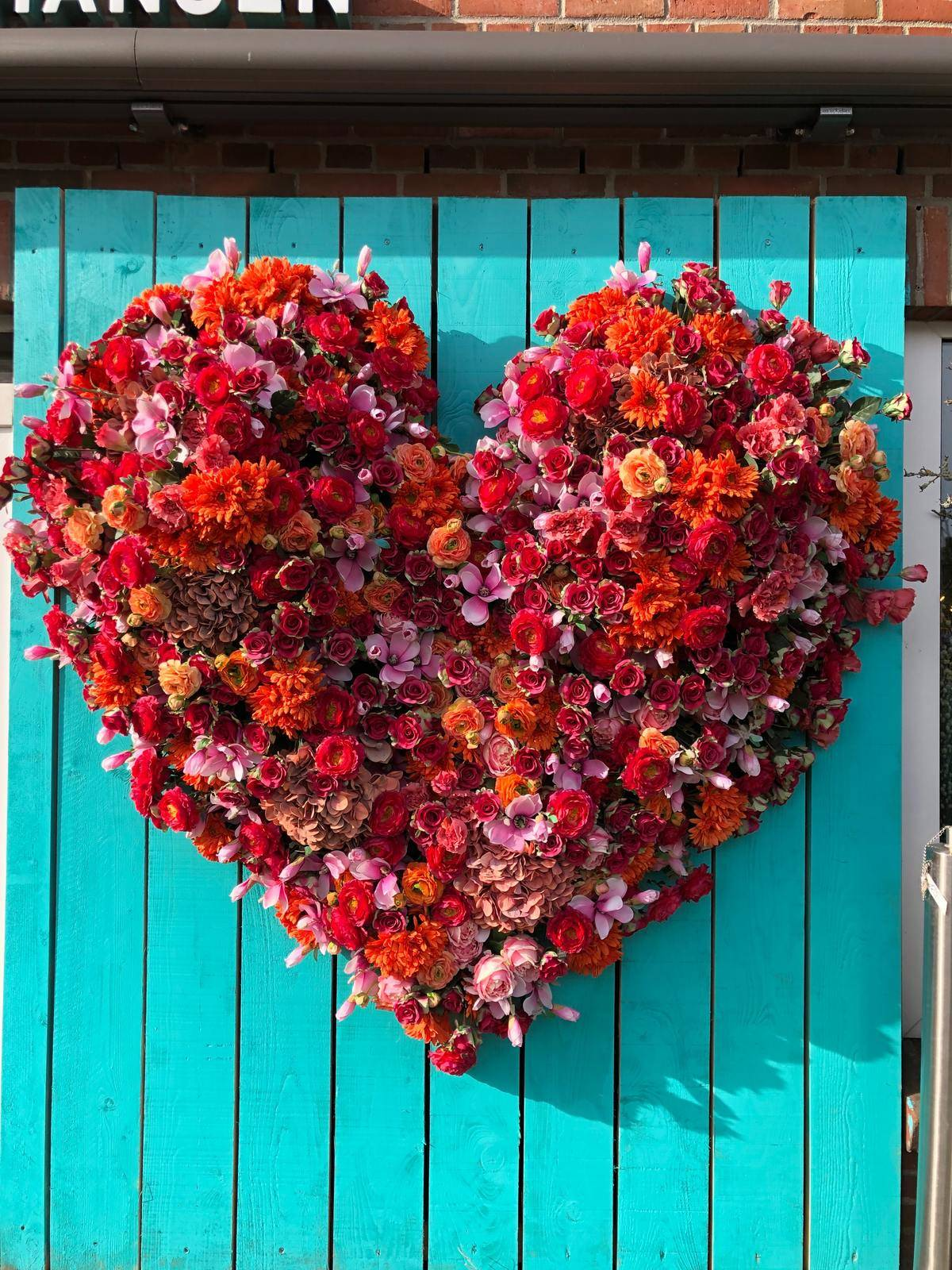 heart made out of flowers