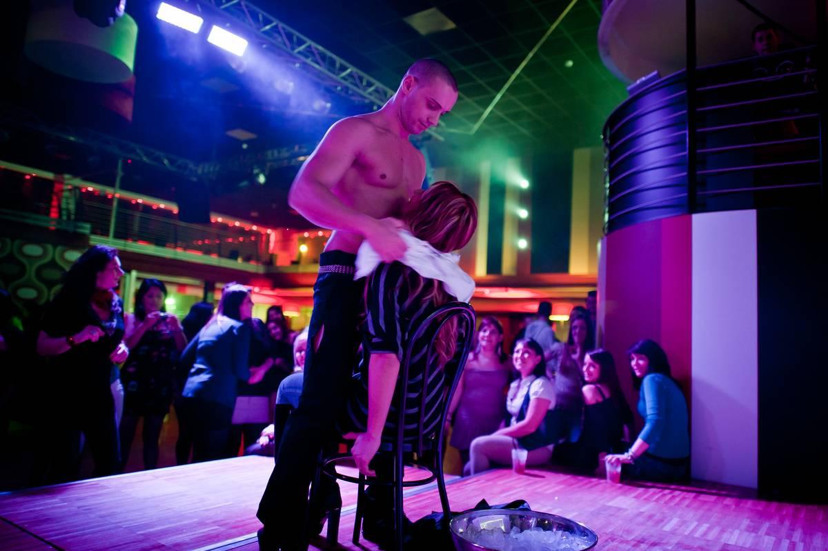 male stripper giving lap dance