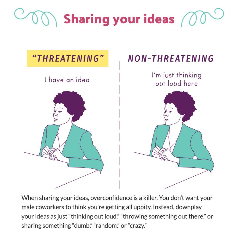 When it comes to sharing your idea, threatening: