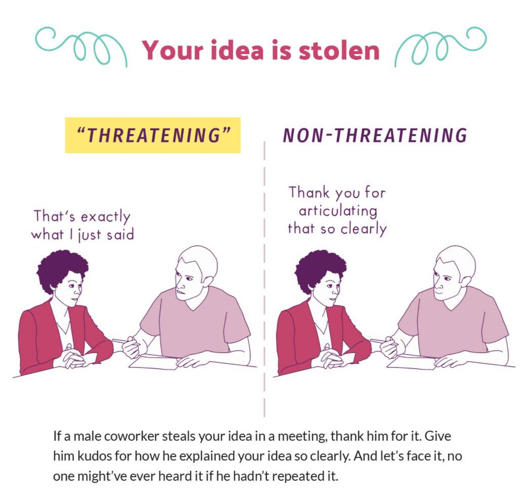 when your idea is stolen, threatening: