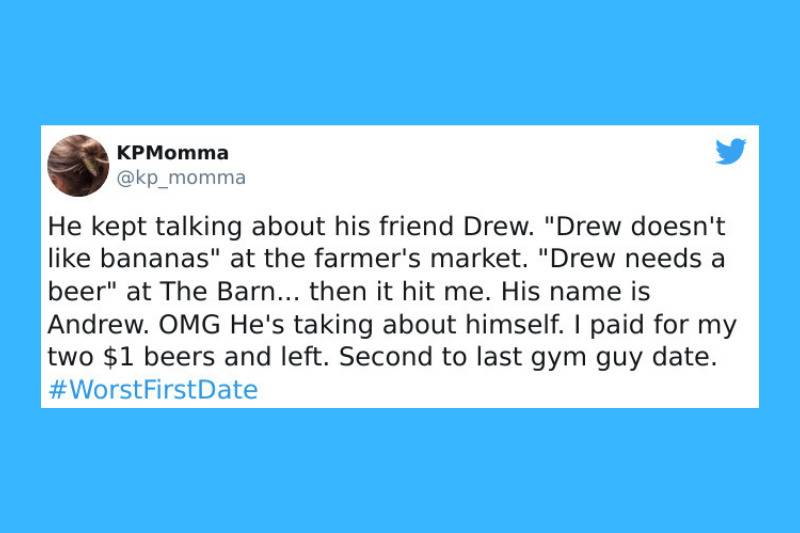 Talking about drew in third person