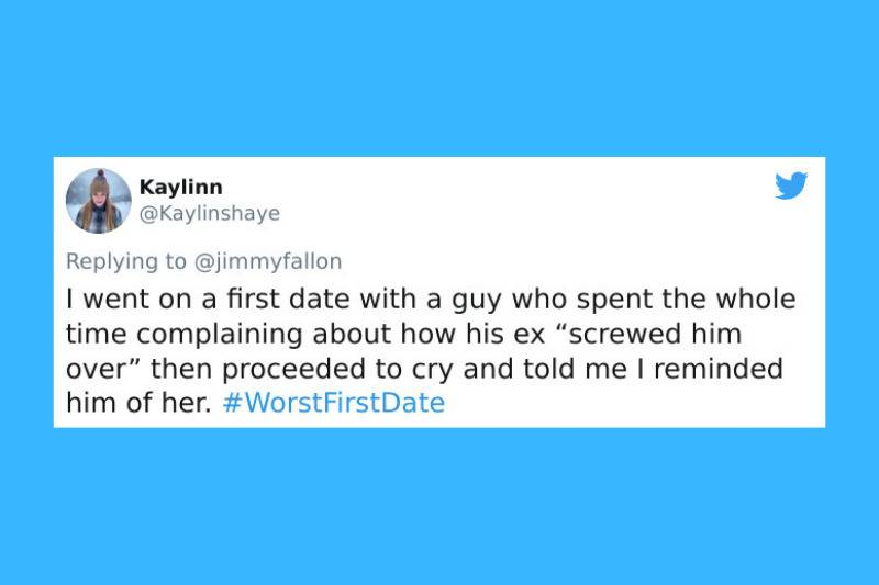 complained about how his ex screwed him over, cried, said she reminded him of her