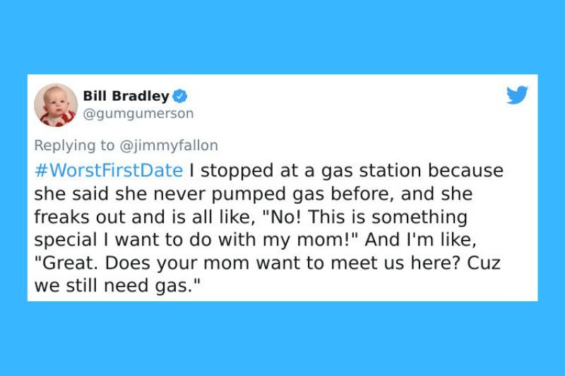 special experience with mom for filling gas