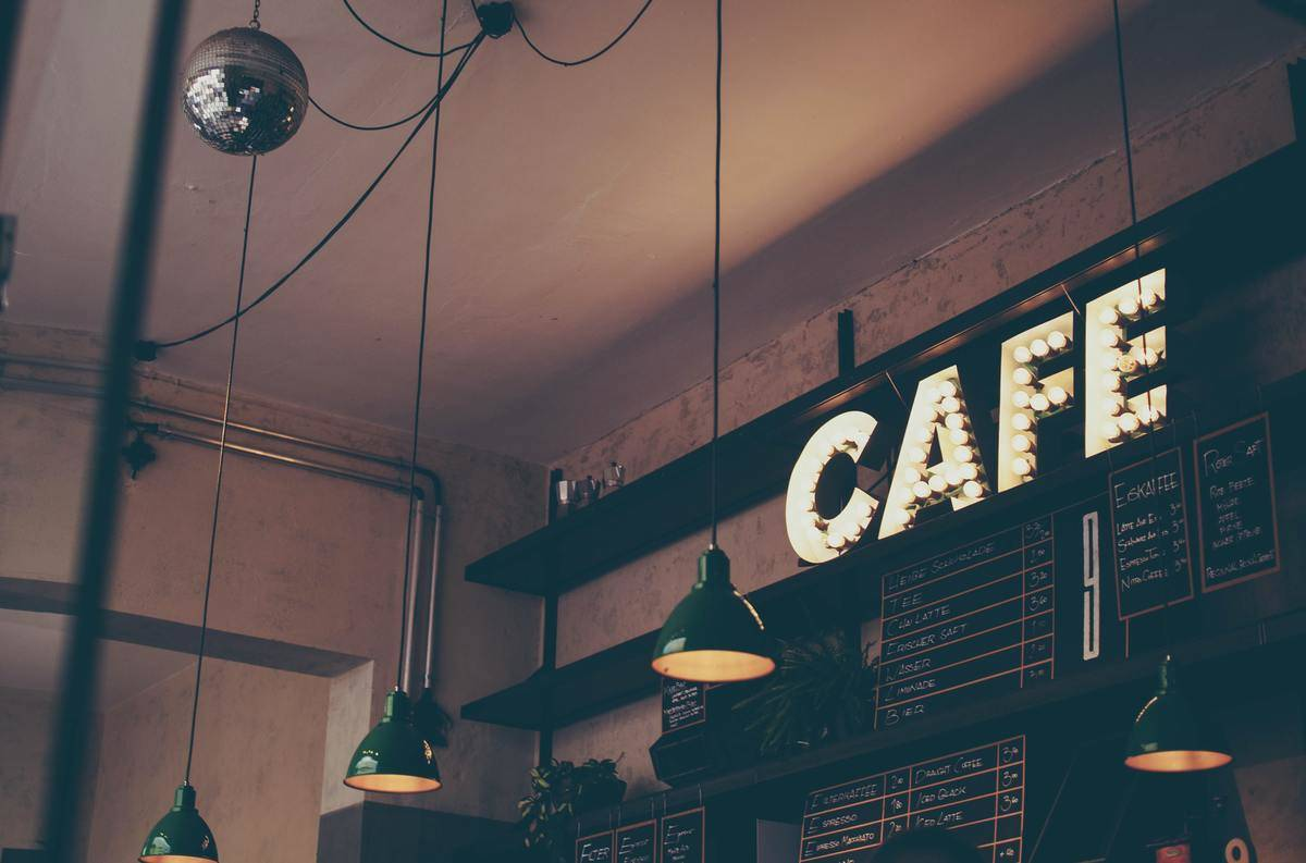 sign in coffe shop reads