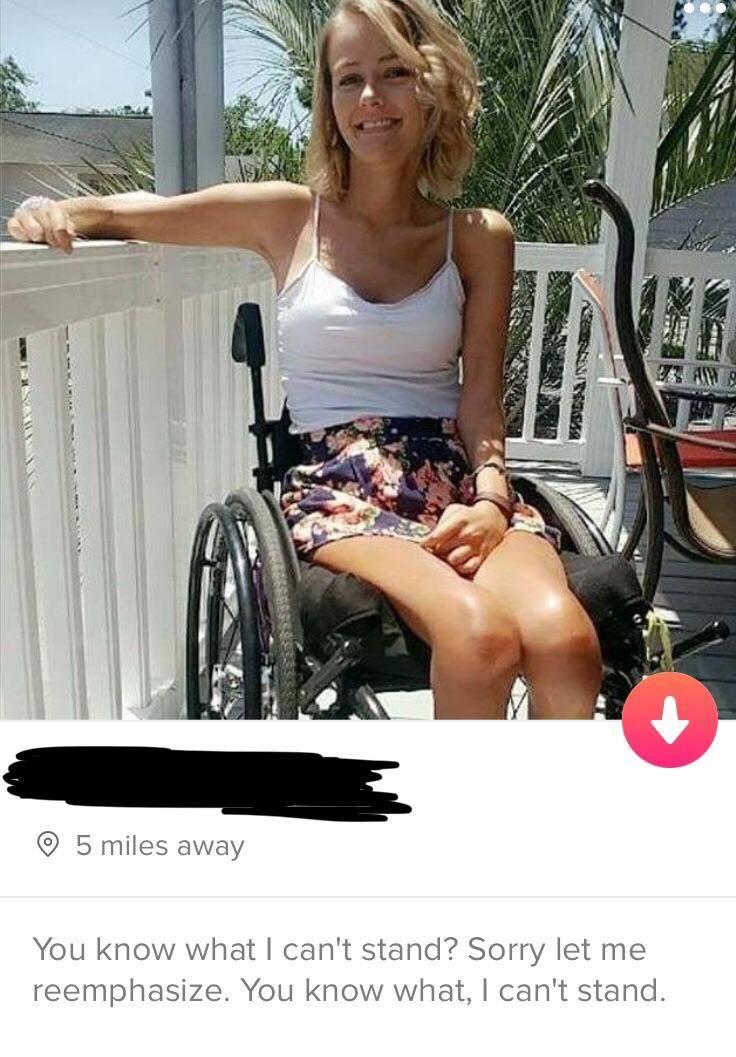 Tinder Profile that says,