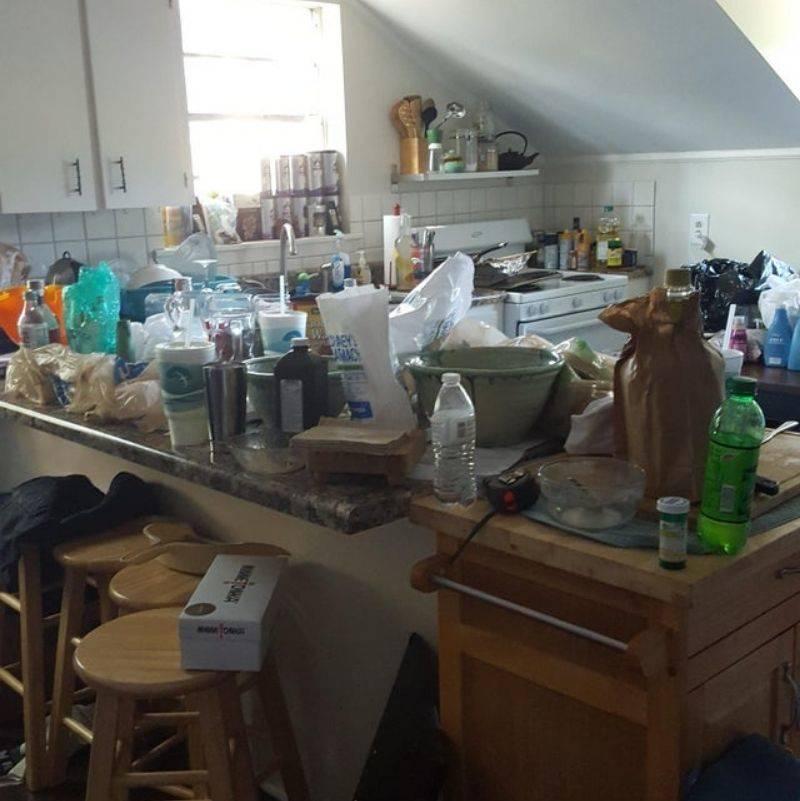boyfriend left the kitchen a huge mess