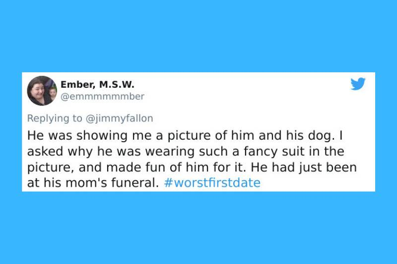 showed a picture of him wearing a suit with his dog because he came from his mom's funeral