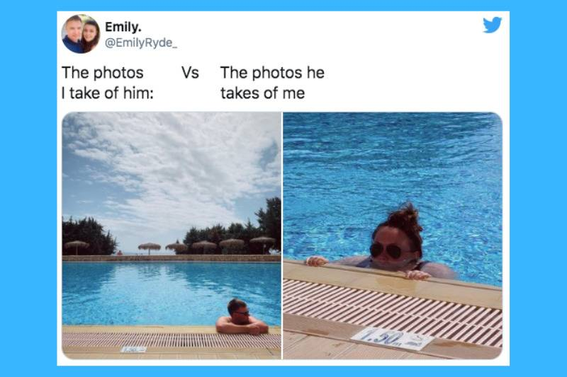 hanging out by the pool vs looking like you're drowning