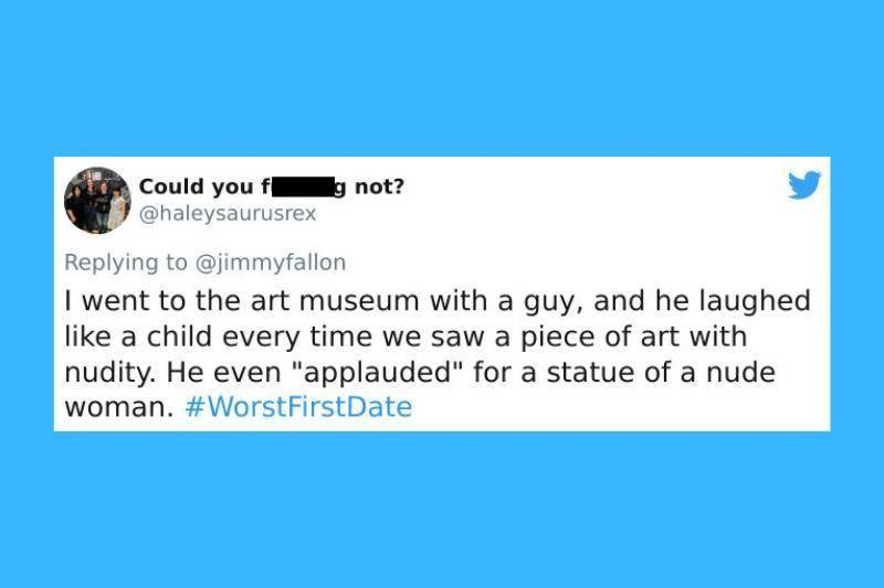 date at museum turned into him laughing at all nudity