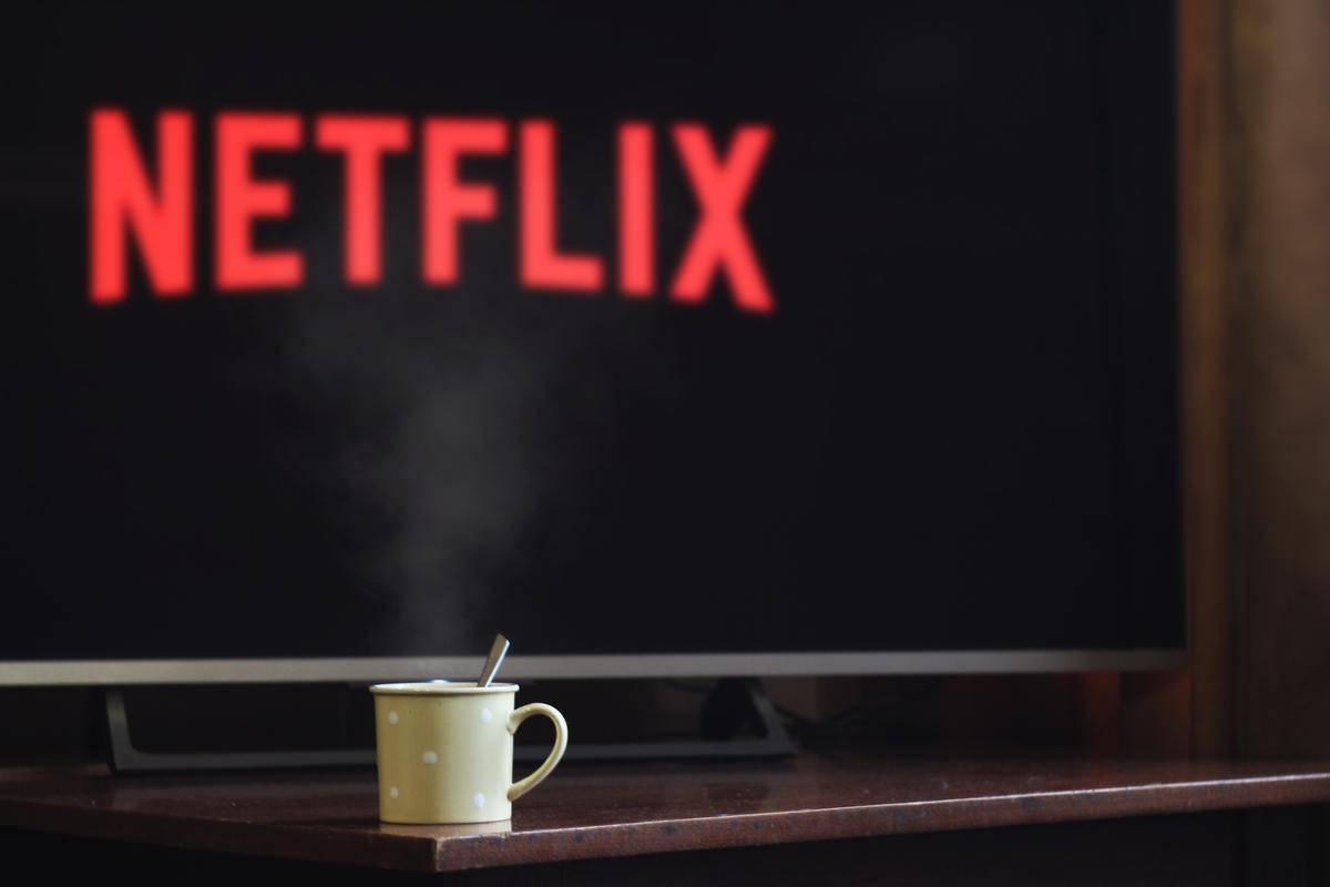 netflix logo on television screen