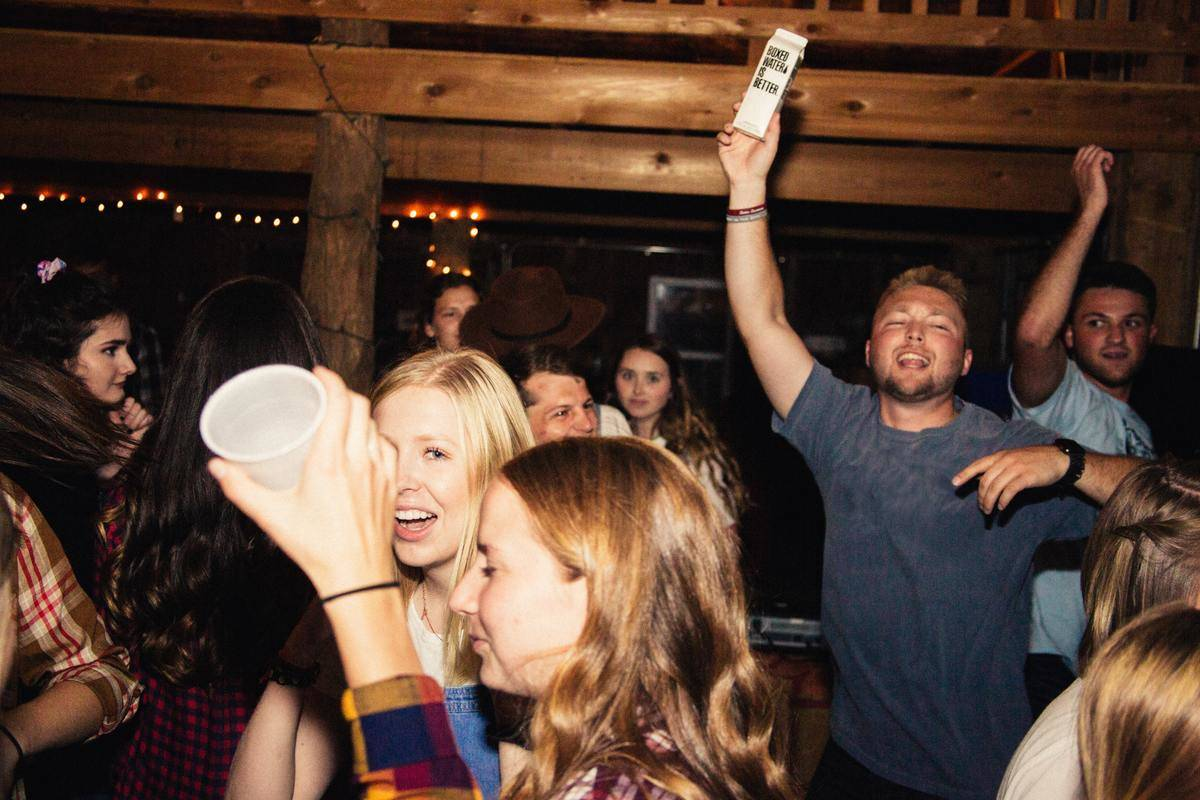 people inside house party