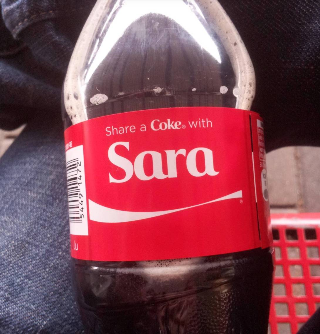 bottle of coca cola with