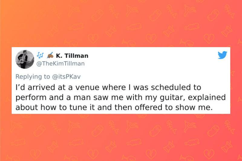 venue worker tried to explain to musician how to tune the guitar