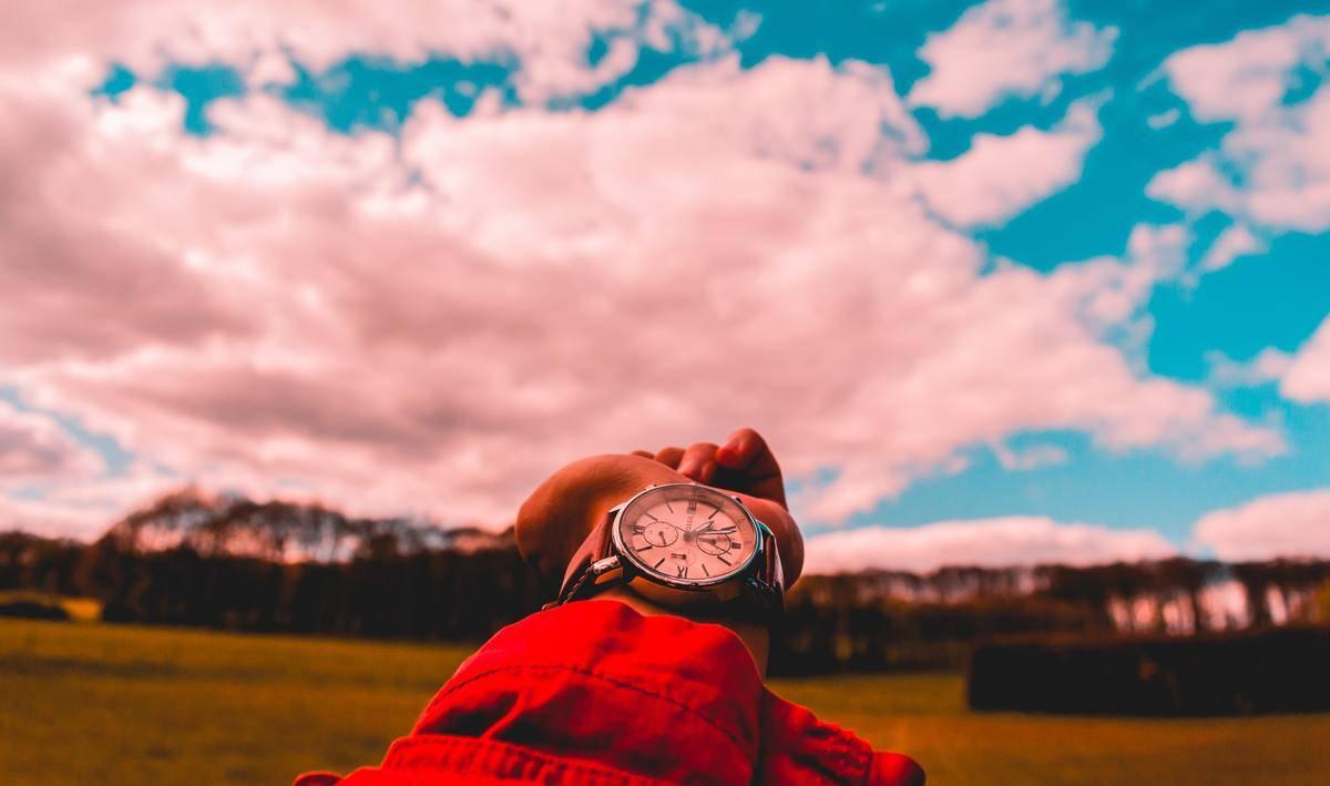 close up of wrist wearing a watch