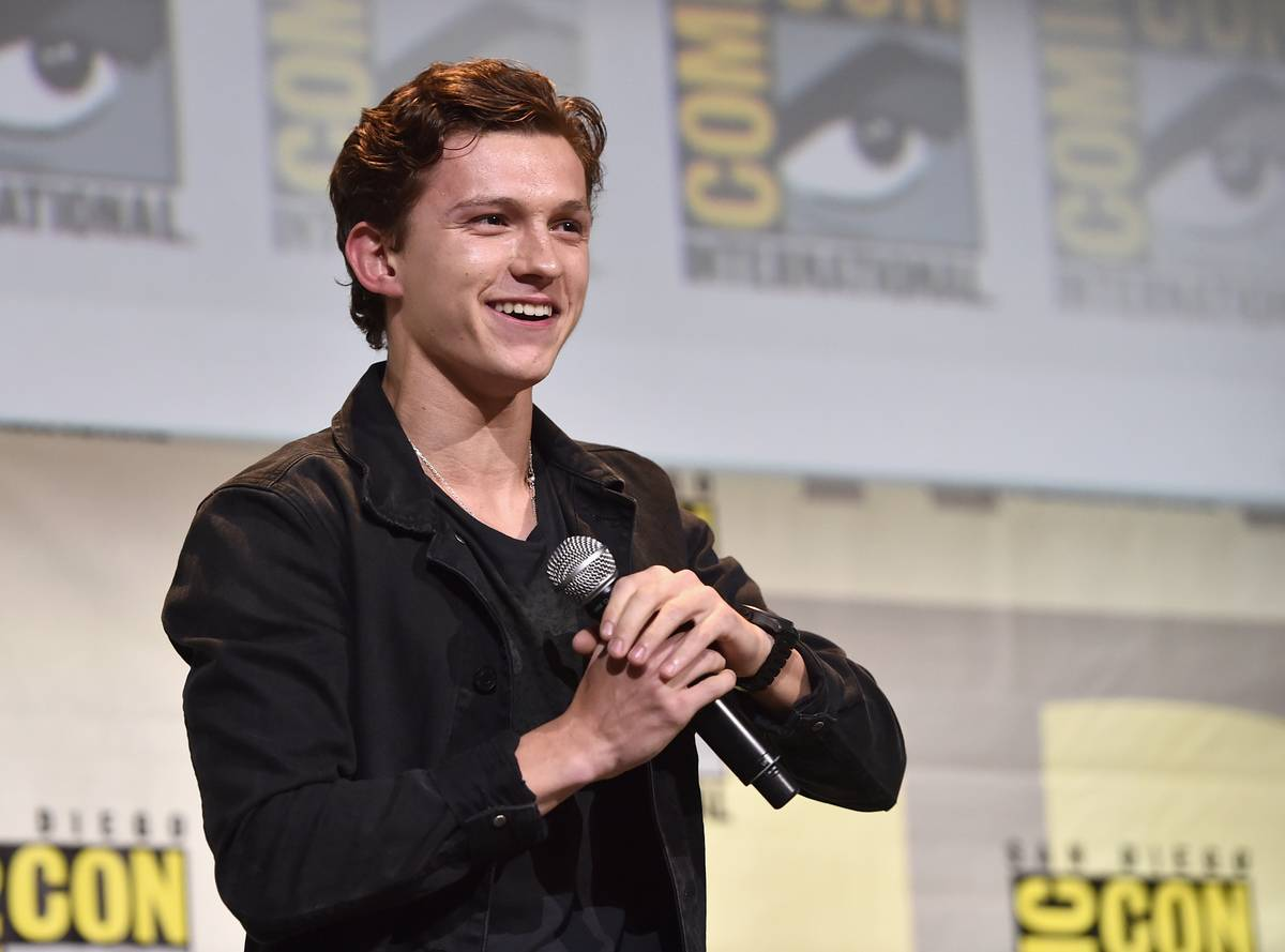 tom holland at Comicon for Marvel