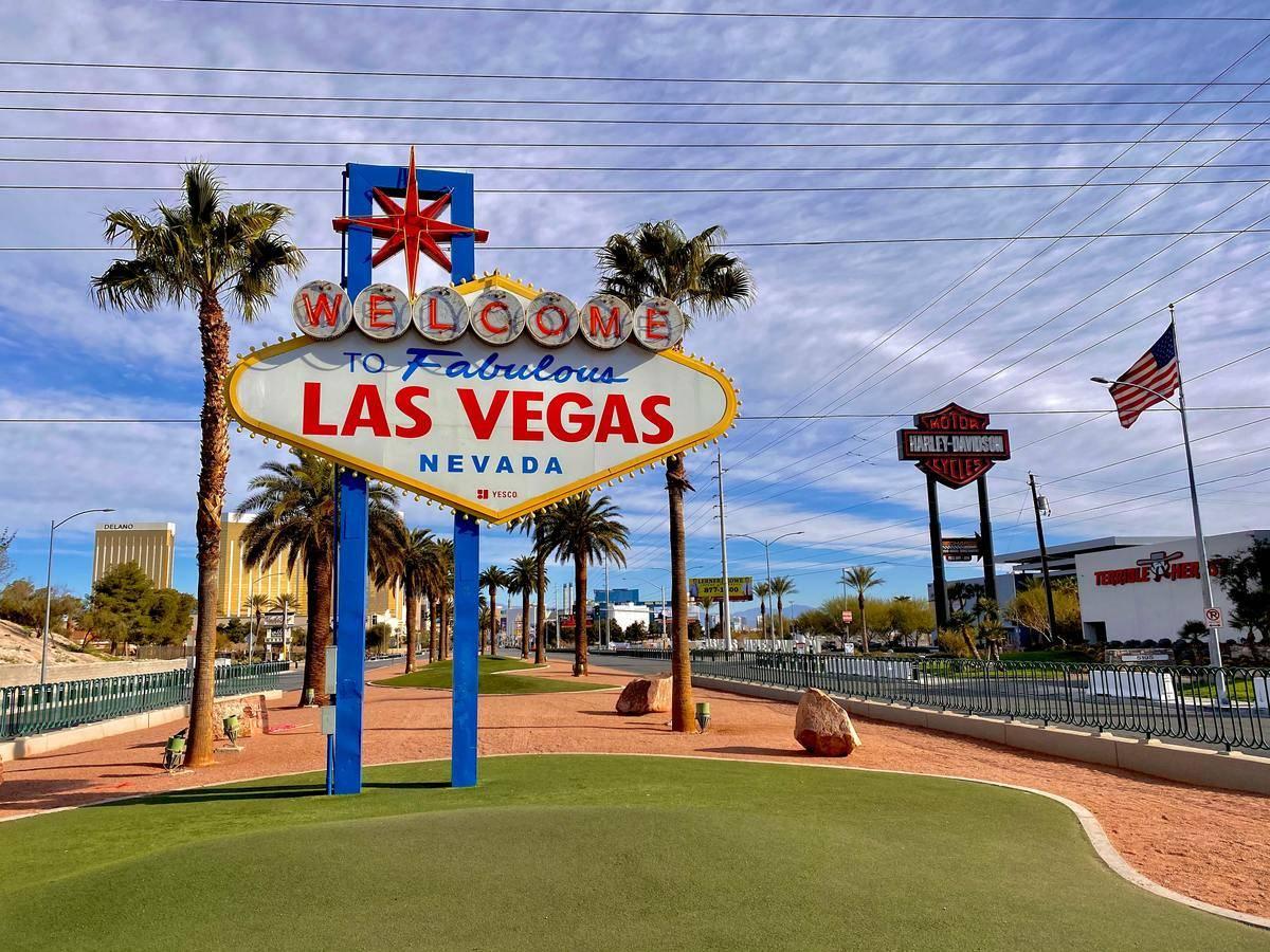 sign outside of Las Vegas