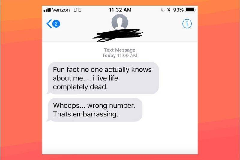A text that says,