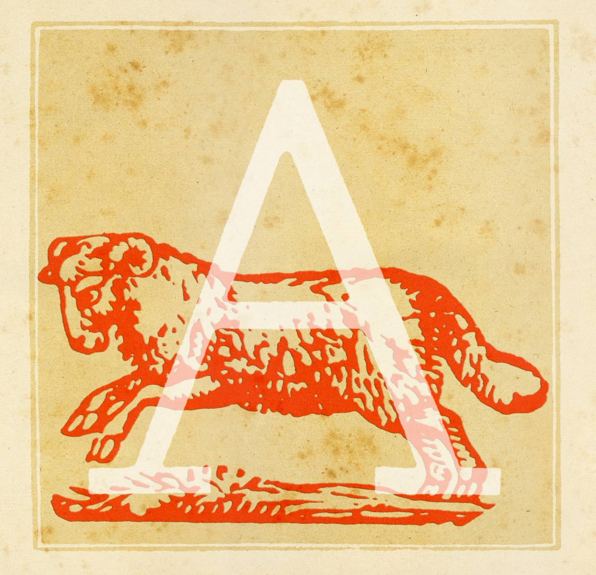 Capital letter A with a ram behind it - the Aries Zodiac sign