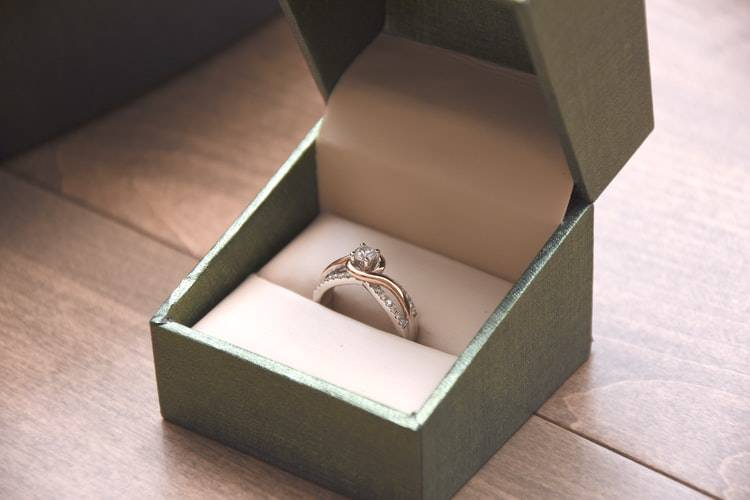 engagement ring in a box