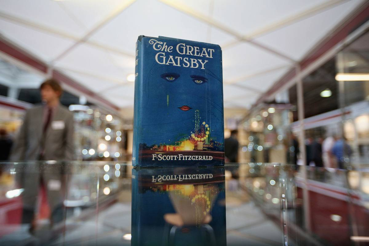 A first edition of F Scott Fitzgerald's 'The Great Gatsby' at the London International Antiquarian Book Fair