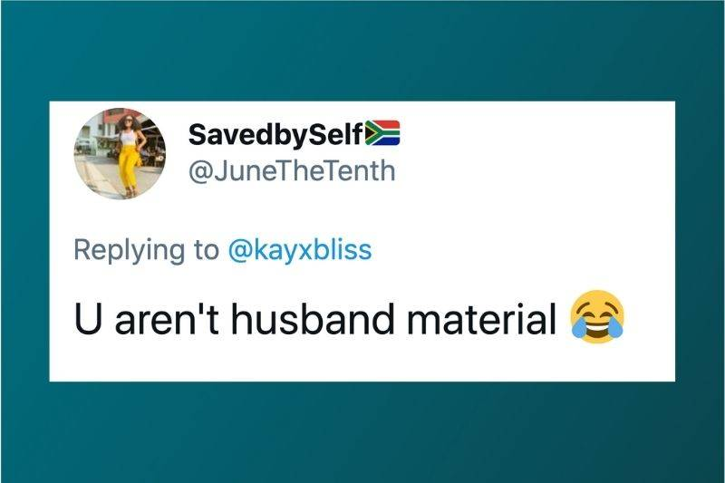 Tweet: You aren't husband material