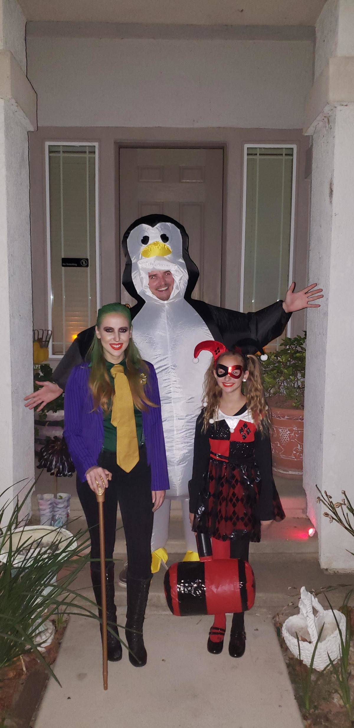 penguin costume and the jokers