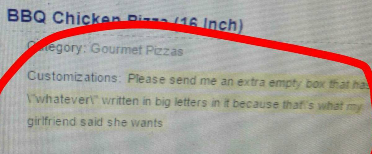 pizza with empty box that says