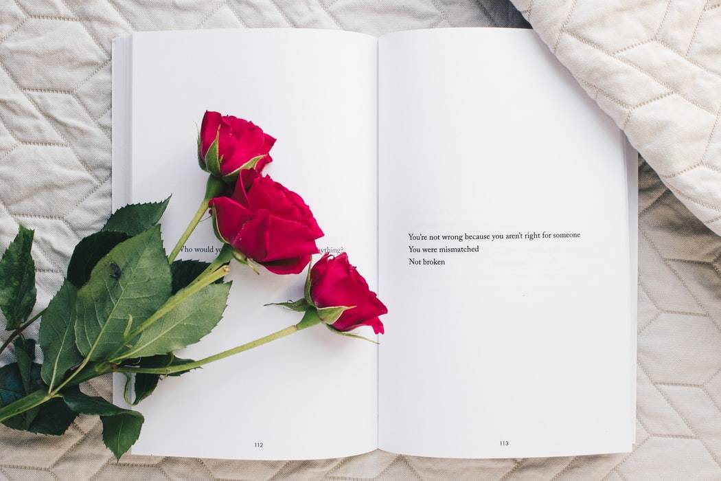 book page that says: you're not wrong because you aren't right for someone you were mismatched. not broken