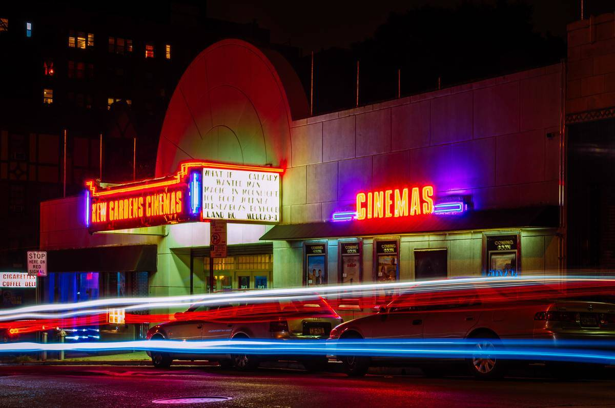 exterior of movie theater