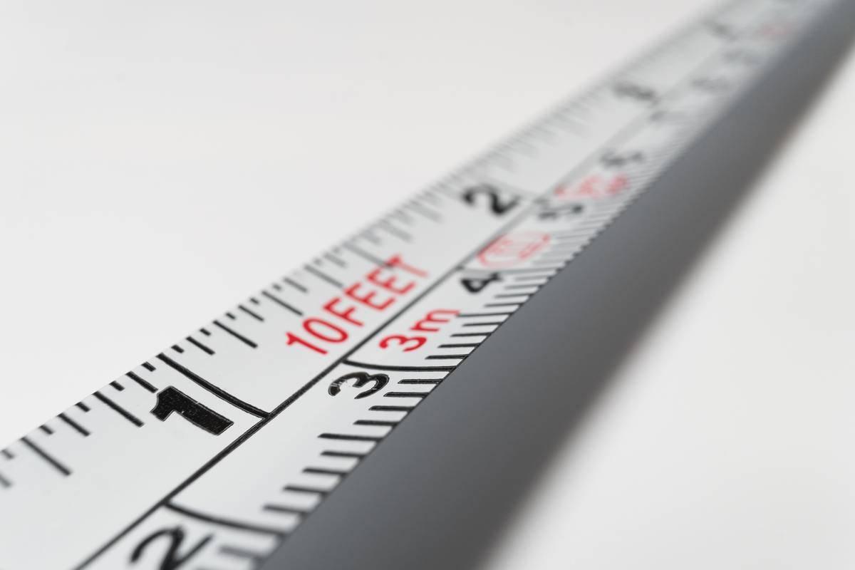 measuring tape close up