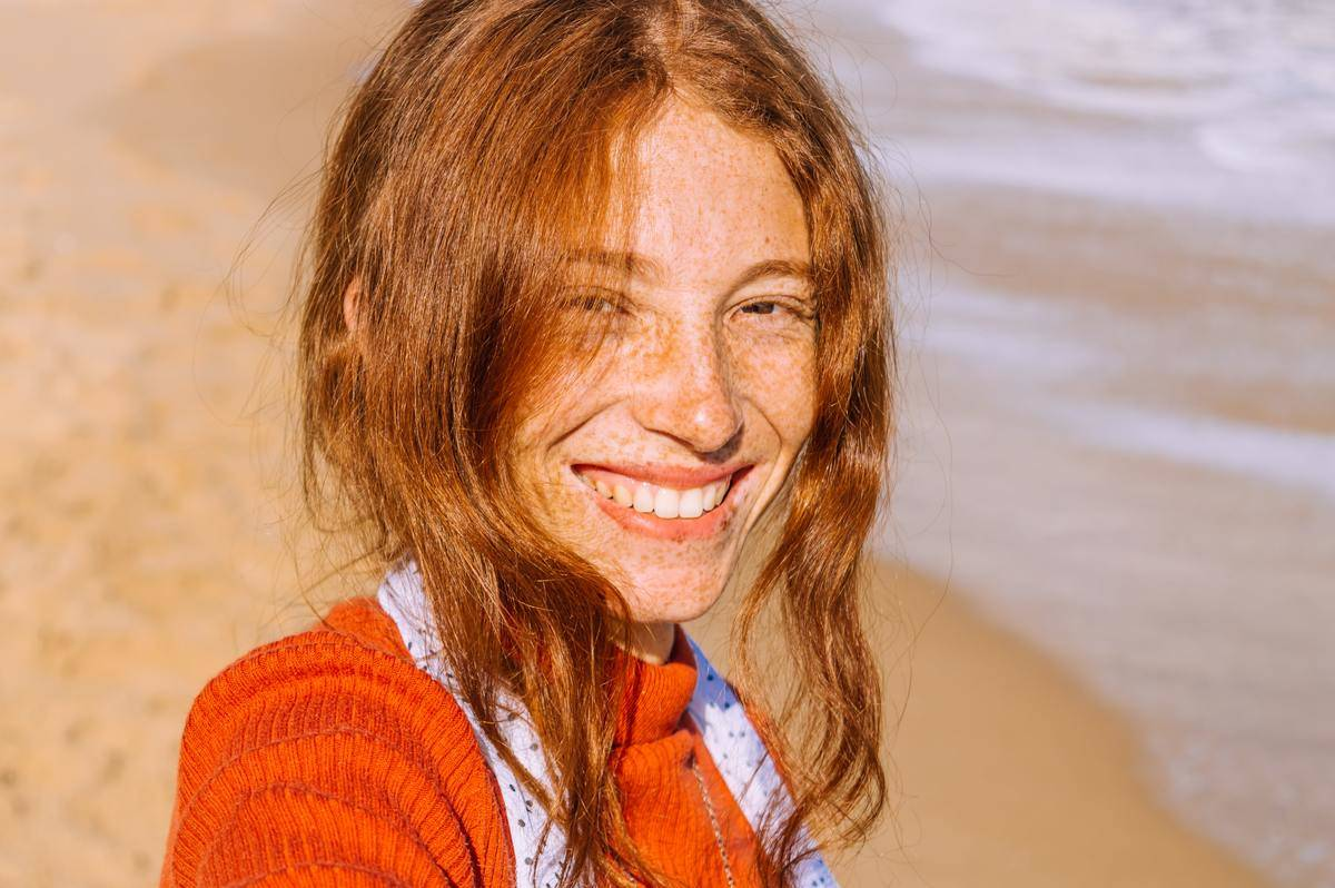 woman with lots of freckles