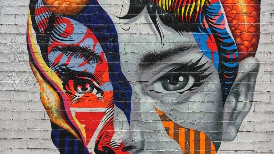 lovely mural of Audrey Hepburn