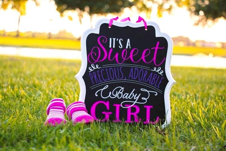 gender reveal sign - it's a girl