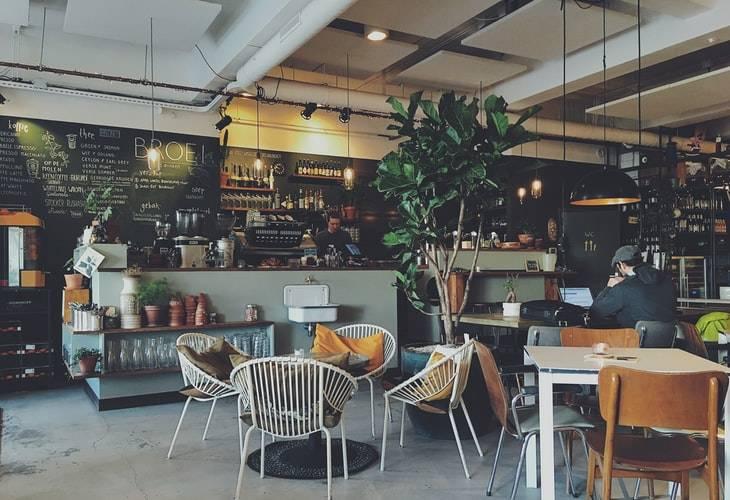 picture of empty café